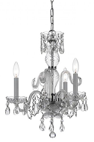 - Polished Chrome Bohemian Crystal 3 Light Candle Style Mini Chandelier With Swarovski Spectra Crystals