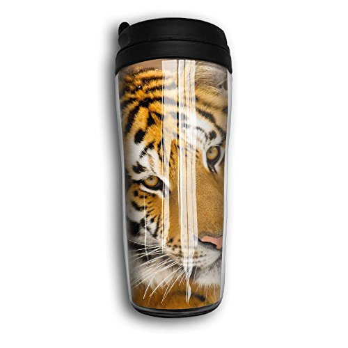 MANKCEST Tiger Face Plastic Travel Cup Funny Insulated Tumbl