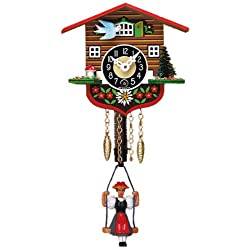Mechanical Swinging Doll Clock Miniature, 4 Inch
