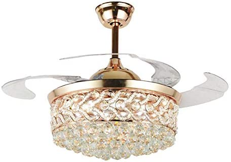 Sky Demons 42inch Modern Crystal Ceiling Fan Light