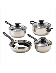 Home Kitchen Stainless Steel Cookware Set Best Restaurant Specialty Healthy Cast Iron Skillet Pot Sauce Pan W/...