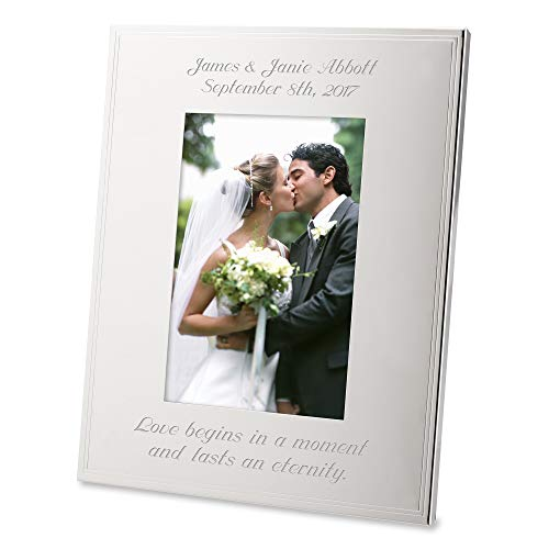 Things Remembered Personalized Silver Tremont 4 x 6 Portrait Frame, Picture Frame with Engraving Included