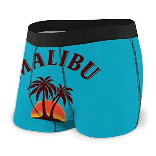 (Malibu Rum Mens Boxer Briefs Underwear for Men S-XXL Polyester Spandex Quick Dry Black)