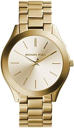 Michael Kors Women's Slim Runway Three-Hand Stainless Steel Quartz Watch