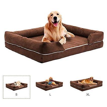 Gemeinsa Cama para Perros Sofá Cómoda para Mascotas Colchón de Espuma de Memoria para Perros,