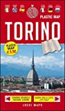 Laminated Map of Turin / Torino Plastic Map by Lozzi Editori (English, Spanish, French, Italian, German and Russian Edition)