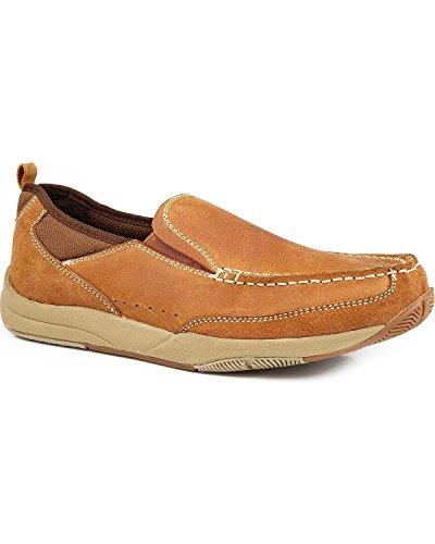 Roper Men's Swift Lite Slip On Shoes Tan US