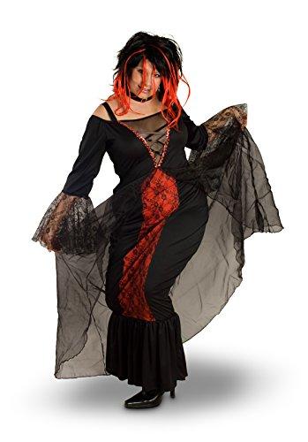 Sunnywood Women's Plus Size Lava Diva Vampiress Costume, Black/Red, X-Large -