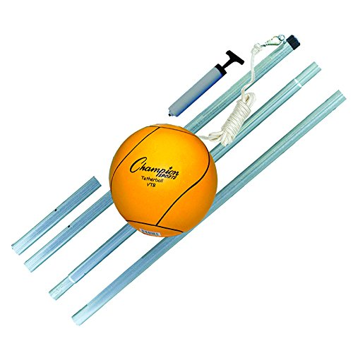 CHAMPION SPORTS DELUXE TETHER BALL SET (Set of 3) by Champion Sports