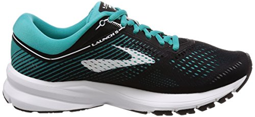 Brooks Womens Launch 5 Black/Teal Green/White H203iDGYaG