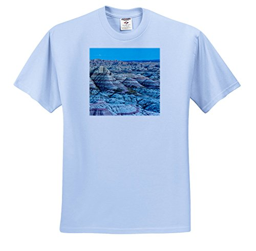 3dRose Danita Delimont - Mountains - Evening, Panorama Point, Badlands National Park, South Dakota, USA - T-Shirts - Youth Light-Blue-T-Shirt Large(14-16) (South Park Juniors T-shirts)