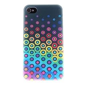 HP-Pequeños círculos coloridos Patrón PC caso duro para el iPhone 4/4S