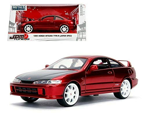 Integra R Type Honda Jdm - New DIECAST Toys CAR JADA 1:24 W/B - Metals - JDM Tuners - 1995 Honda Integra Type-R (Japan SPEC) RED 30932