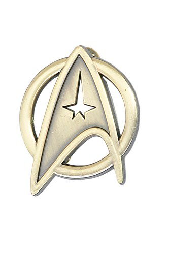 Star Trek Voyager Costumes (XOMO Star Trek Cosplay Voyager Command Brooch Badge Gold Free Size)