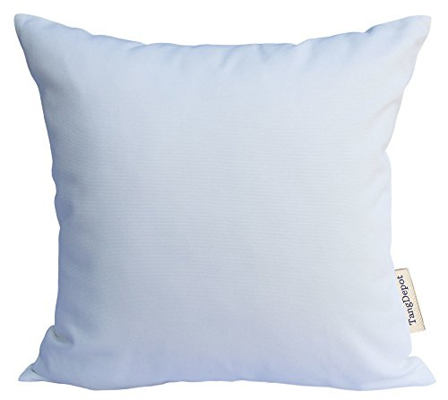 TangDepot Handmade Decorative Solid 100% Cotton Canvas Throw Pillow Covers/Pillow Shams, (12x12, White)