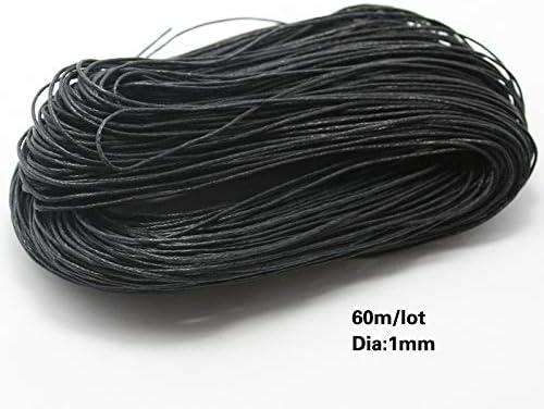 SMXGF 60 Metros/porción, diámetro del Hilo de algodón Encerado 1MM ...