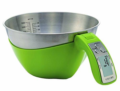 Bowl Electronic Kitchen Scale (Camry Digital Kitchen Scale Mixing Bowl - Model Ek6550 (Green))