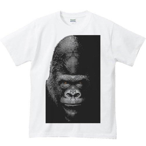 実行可能実用的関数エムワイディエス(MYDS) 暗闇のゴリラ/半袖Tシャツ