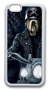Biker Sam Bulldog Custom iPhone 6 4.7inch Case Cover TPU White