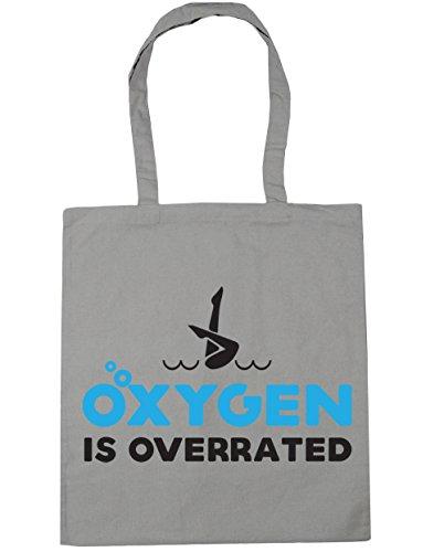 HippoWarehouse es de oxígeno overrated sincronizada bolsa de la compra bolsa de playa 42cm x38cm, 10litros gris claro
