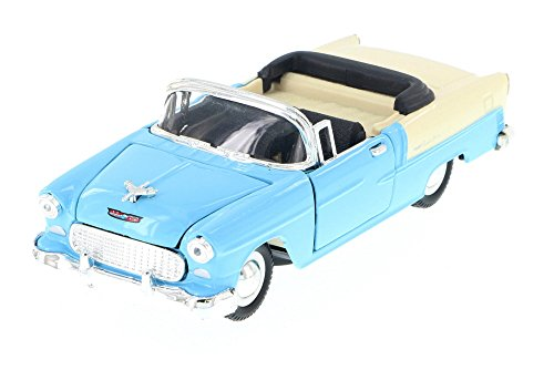 1955 Chevy Bel-Air Convertible, Blue - Sunnyside 5720D - 1/34 Scale Diecast Model Toy Car (Brand New but NO BOX) (1955 Chevy Bel Air Convertible)