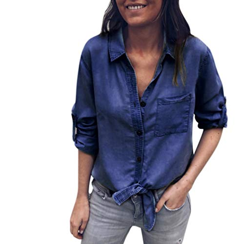 Kanpola Tunique Longues Femme Noir Women Fonc Chemisier Manches UZ18xUvq