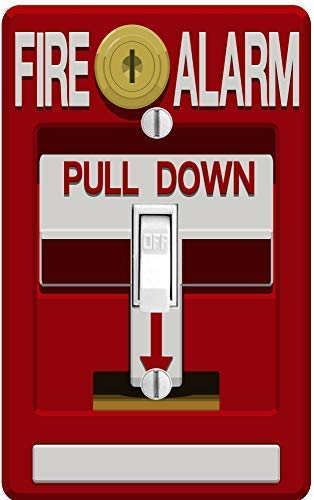 - PP4U Novelty Printed Fake Fire Alarm Printed Light Switch Cover