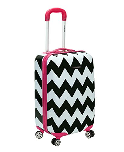 Rockland 20 Inch Carry On Skin, Pink Chevron, One Size (Rockland Luggage 20 Vegas Polycarbonate Carry On)