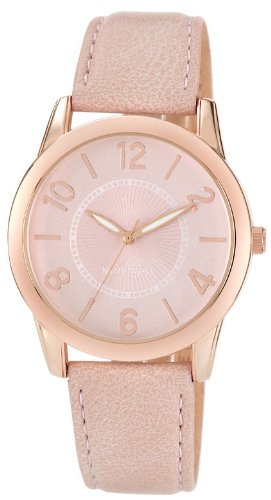 Nine West Womens NW1158PKRG Rose Gold-Tone Watch