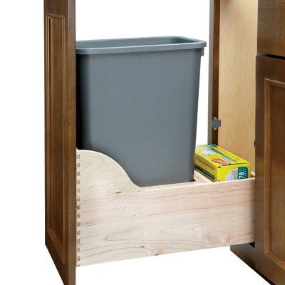 Rev-A-Shelf 50 Quart Single Waste Unit With Tandem Soft Close And Servo Drive