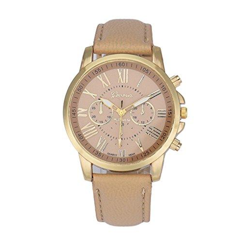 Women Watch,Haoricu New Women's Fashion Vintage Faux Leather Analog Quartz Wrist Watch