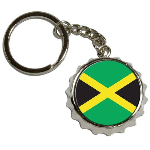 Jamaica Jamaican Flag Nickel Keychain