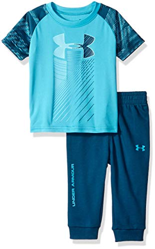 Under Armour Boys' Baby Two Piece Graphic Tee and Pant Set, Deceit Travel, 18 Months ()