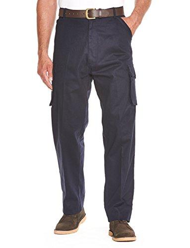 Coton De Hommes Cargo Combat Côté Élastiquée Pantalon De Travail Bleu 106cm x 69cm