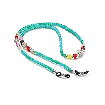 Eye Glasses String Holder Chain Fashion Beaded Eyeglass Lanyards Straps Cords Glasses Holders Necklace Around Neck 1pc Green Agate Type