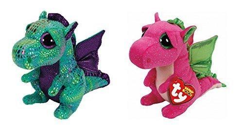 011ada5d821 Ty Cinder and Darla Dragon Set of 2 Beanie Boos Stuffed Animal Plush Toy