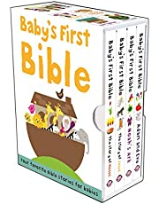 Baby's First Bible Boxed Set: The Story of Moses, The Story of Jesus, Noah's Ark, and Adam and Eve