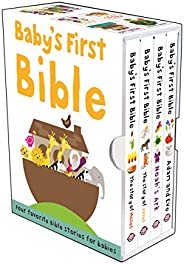 Baby's First Bible Boxed Set: The Story of Moses, The Story of Jesus, Noah's Ark, and Adam and Eve (Bi