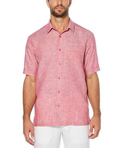 Cross Cubavera Men's Big Sleeve Woven Tall ShirtSangria4xl Dyed Short 100Linen SUpqzMV