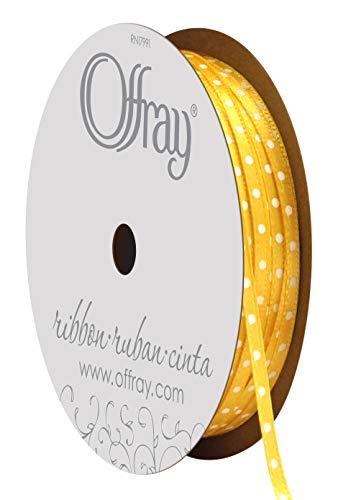 1/8' Double Face Satin Ribbon - Offray Double Face Satin Mini Dot Craft Ribbon