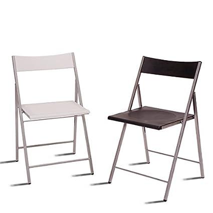 Caja de 6 sillas plegables de plastico SLIM: Amazon.es: Hogar