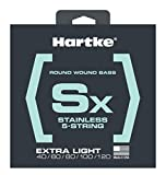 Hartke HSBSX540 SX Stainless Steel Bass Guitar Strings, Extra Light 5-String