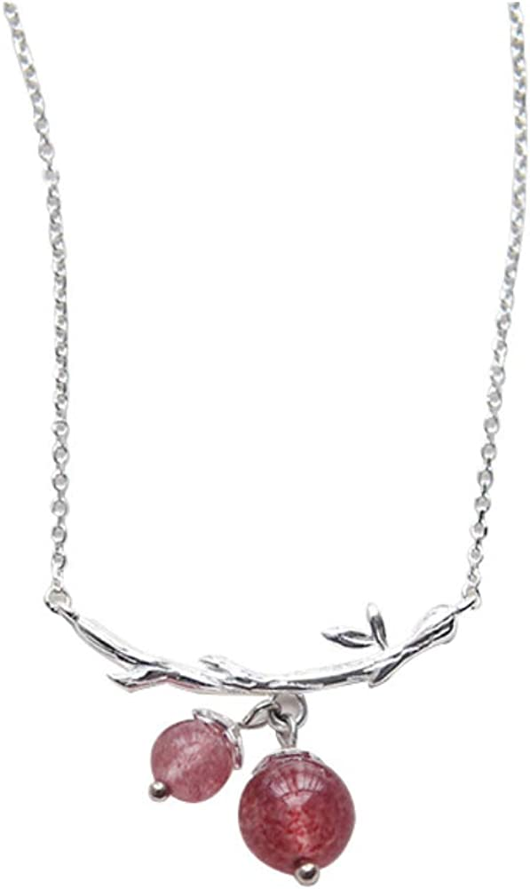 Helen de Lete Fresh Fruit Crystal Peach 925 Sterling Silver Collar Necklace