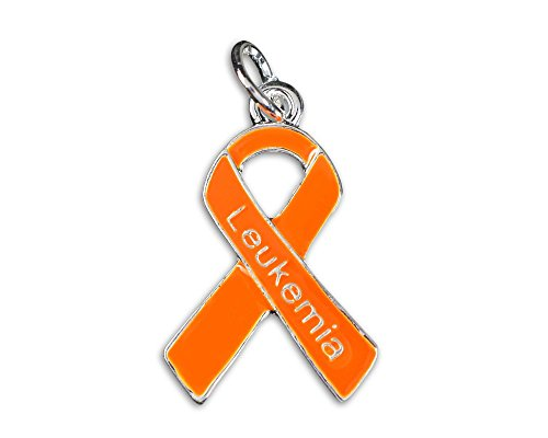 Leukemia Awareness Orange Ribbon Charm in Bag (1 Charm - Retail)]()