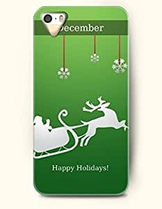 OOFIT Phone Case design with Jumping Reindeer - December for Apple iPhone 4 4s 4g
