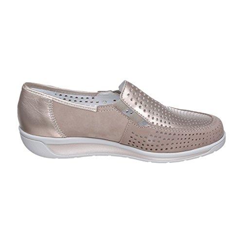 Taupe H Ara 36337 Para platin Mujer Zapatos Weite Cordones 06 12 De Beige Gris w7w1Tzq