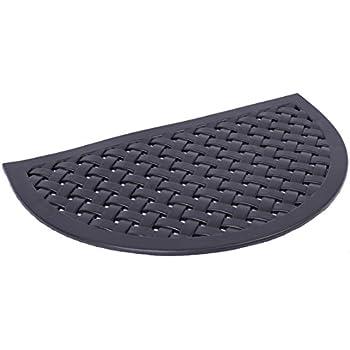 BirdRock Home 22 X 36 Half Round Rubber Doormat With Basket Weave Design | Outdoor  Doormat | Keeps Your Floors Clean | Decorative Design