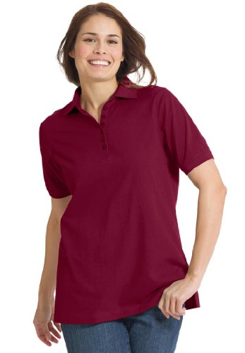 Women 39 S Plus Size Top Perfect Polo Short Sleeve T Shirt