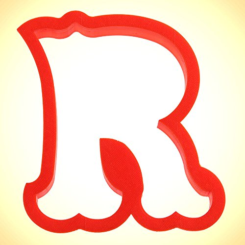 Curly Letter R Cookie Cutter 4 in (Letter Cookie R Cutter)