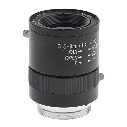 Homyl 3.5-8 mm Varifocal CS Mount F1.4 Manual CCTV Lens for Security Camera